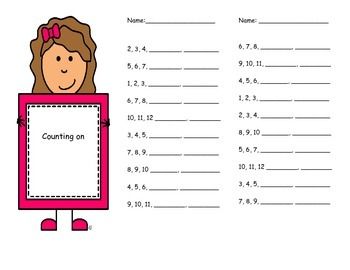 Mental Math Booklet - Counting on, Skip Counting by 2s, 5s, 10s,and More
