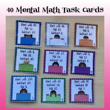 Mental Math Cards