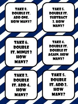 Mental Math Cards and Kaboom