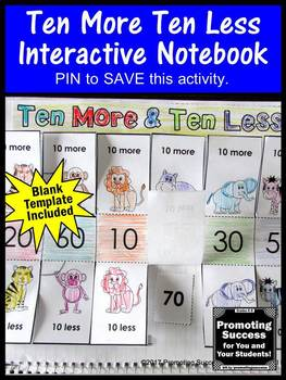 Ten More Ten Less Craftivity, 1st Grade Math Interactive Notebook