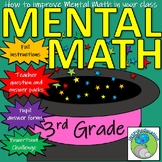 Mental Math Challenge-Instructions, Progression Booklet, Resources, Certificates
