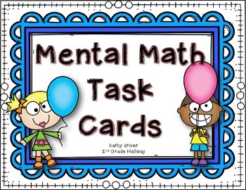 Mental Math Clothespin Task Cards