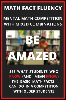 Basic Math Fact Fluency - Mental Math Competition with Mixed Combinations