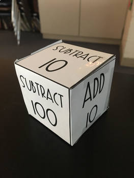 Mental Math Dice Activity - Adding/Subtracting 1, 10, or 100 #Ringin2019
