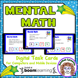 Mental Math Digital Task Cards Boom Cards for Distance Learning