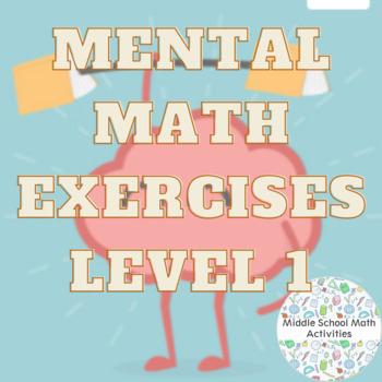 Mental Math Exercises Level 1