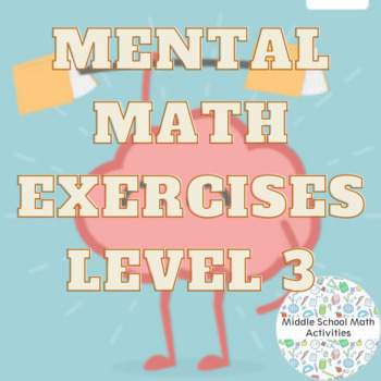 Mental Math Exercises Level 3
