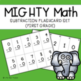Math Fact First Grade Subtraction Flash Cards