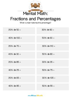 Fractions: Mental Math - Fractions and Percentages 4