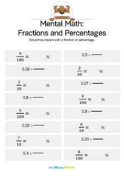 Fractions: Mental Math - Fractions and Percentages 5