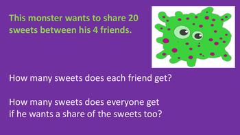 Mental Math Halloween Monster Sums