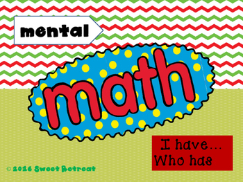 Mental Math I Have Who Has