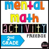 Mental Math activity Second Grade