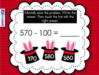 Mental Math Magic Show Smart Board Game (CCSS.2.NBT.B.8)