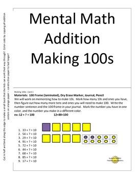 Mental Math Making 100