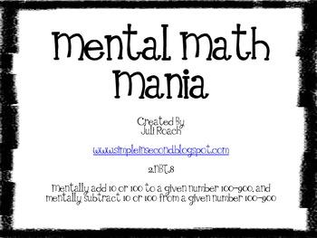 Mental Math Mania ~ 2.NBT.8