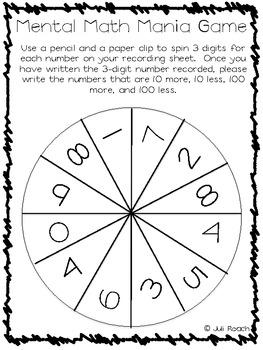 Mental Math Mania Game
