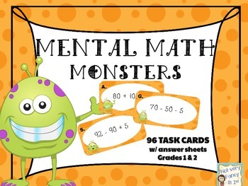 Mental Math Monsters Task Cards
