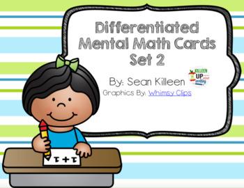 Mental Math Task Cards Set 2