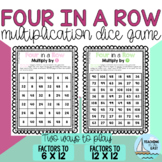 Four in a Row: Multiplication Dice Game