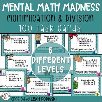 Mental Math || Multiplication & Division || Distance Learning