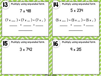 1-Digit Mental Math Multiplication Task Cards