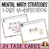 1-Digit Mental Math Multiplication Task Cards