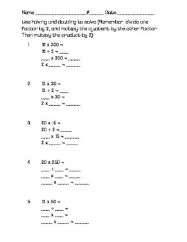 Mental Math Multiplication Worksheets - Go Math Chapter 2