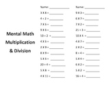 Mental Math Multiplication and Division in a Minute