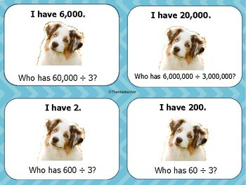 Mental Math : Multiplication and Division with Zeros I Have Who Has?  Game