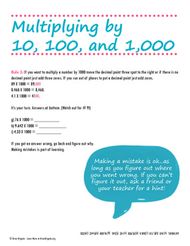Mental Math - Multiplying by 10, 100, 1,000, 11, 12, and More!
