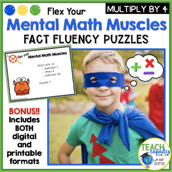 Mental Math Muscles - Multiplication by 4's