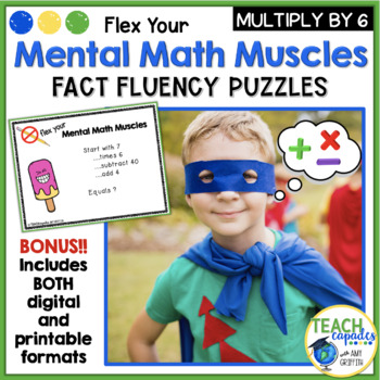 Mental Math Muscles - Multiplication by 6's