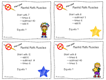 Mental Math - Multiplication by 6's