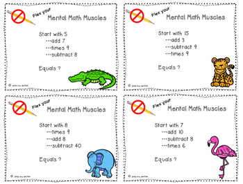 Mental Math Muscles - Multiplication by 9's