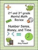 Mental Math Number Sense, Money and Time for grades 2nd and 3rd