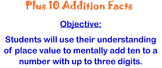 Mental Math: Plus 10 Addition Facts