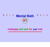 Mental Math Powerpoint #1 with Squaring & Square Roots