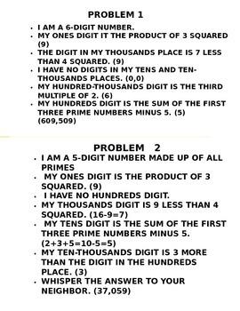 Mental Math Problems