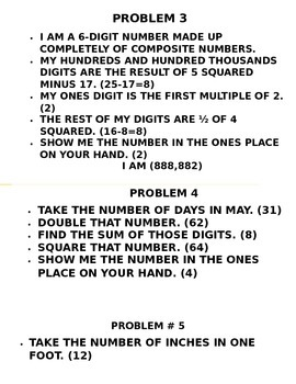 Mental Math Problems