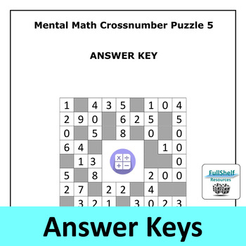 mental math worksheets puzzles rd  th grade by fullshelf resources mental math worksheets puzzles rd  th grade