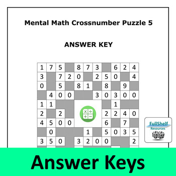 Mental Math Puzzles 4th / 5th Grade