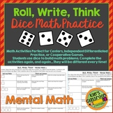 Mental Math - Roll, Write, Think - Mental Math Games to Improve Math Skills