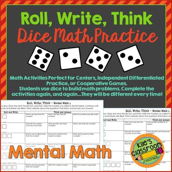 Mental Math - Roll, Write, Think - Mental Math Games to Improve Math Skills