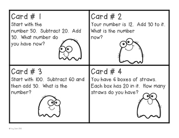 Mental Math SCOOT Game - Addition/Subtraction in your HEAD!