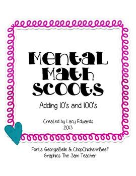 Mental Math Scoot Addition