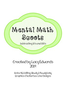 Mental Math Scoots Subtraction