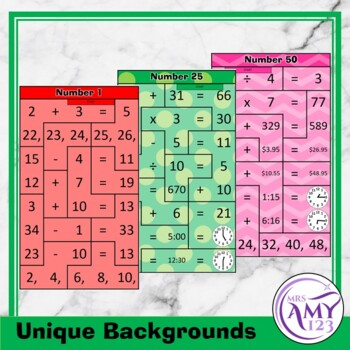 Mental Math Sorting Puzzles - Middle