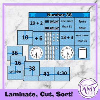 Mental Math Sorting Squares - Lower