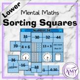 Mental Math Sorting Squares - Lower